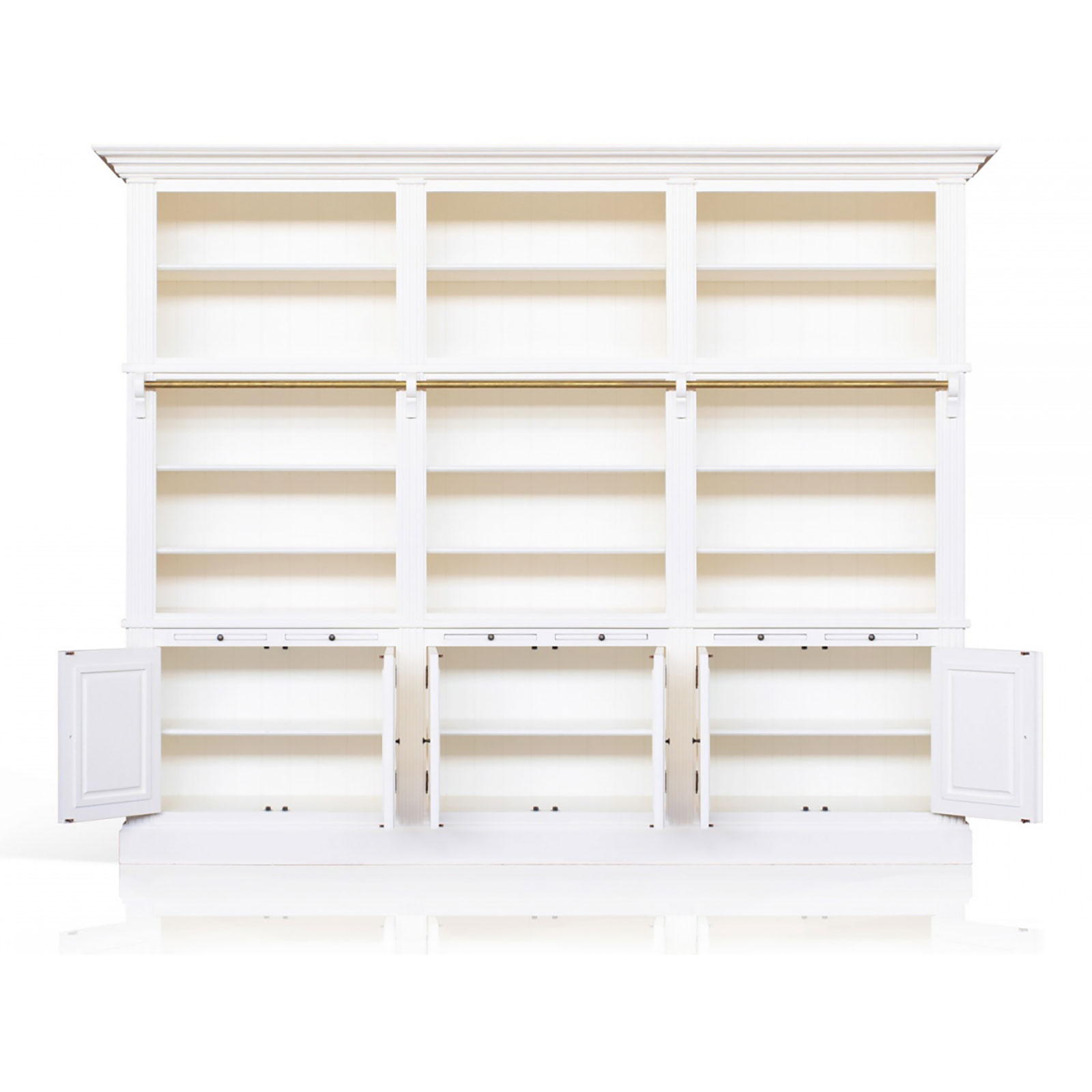 Belgravia Triple Library Bookcase With Ladder Beyond Home
