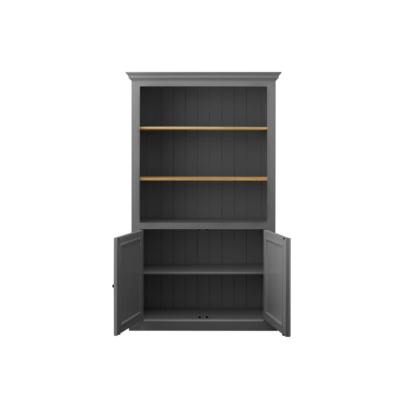 Soho Grey Painted 2 Door Bookcase_2