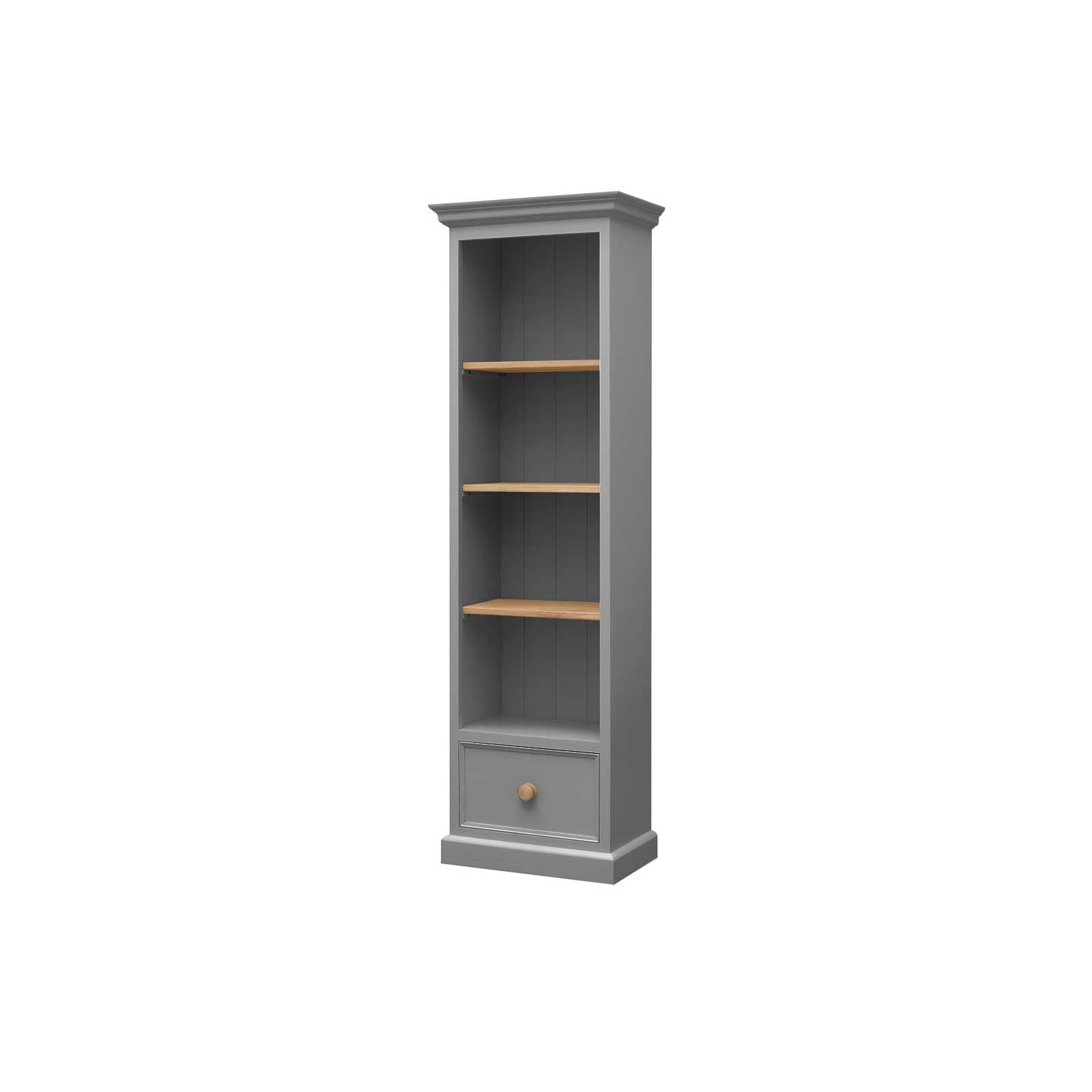 Soho Dark Grey Painted Narrow Bookcase_2