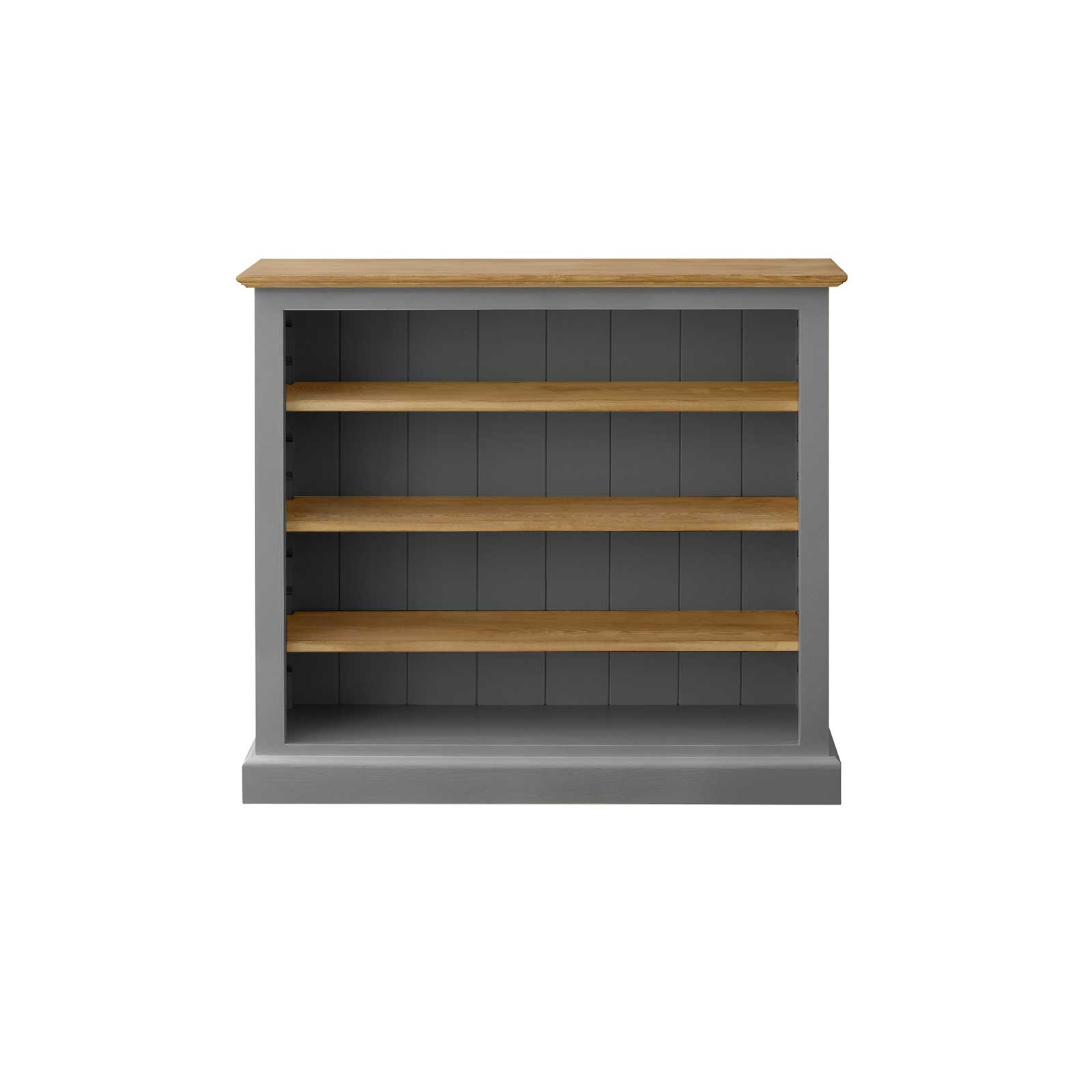 Soho Dark Grey Painted Low Bookcase (Large)_1