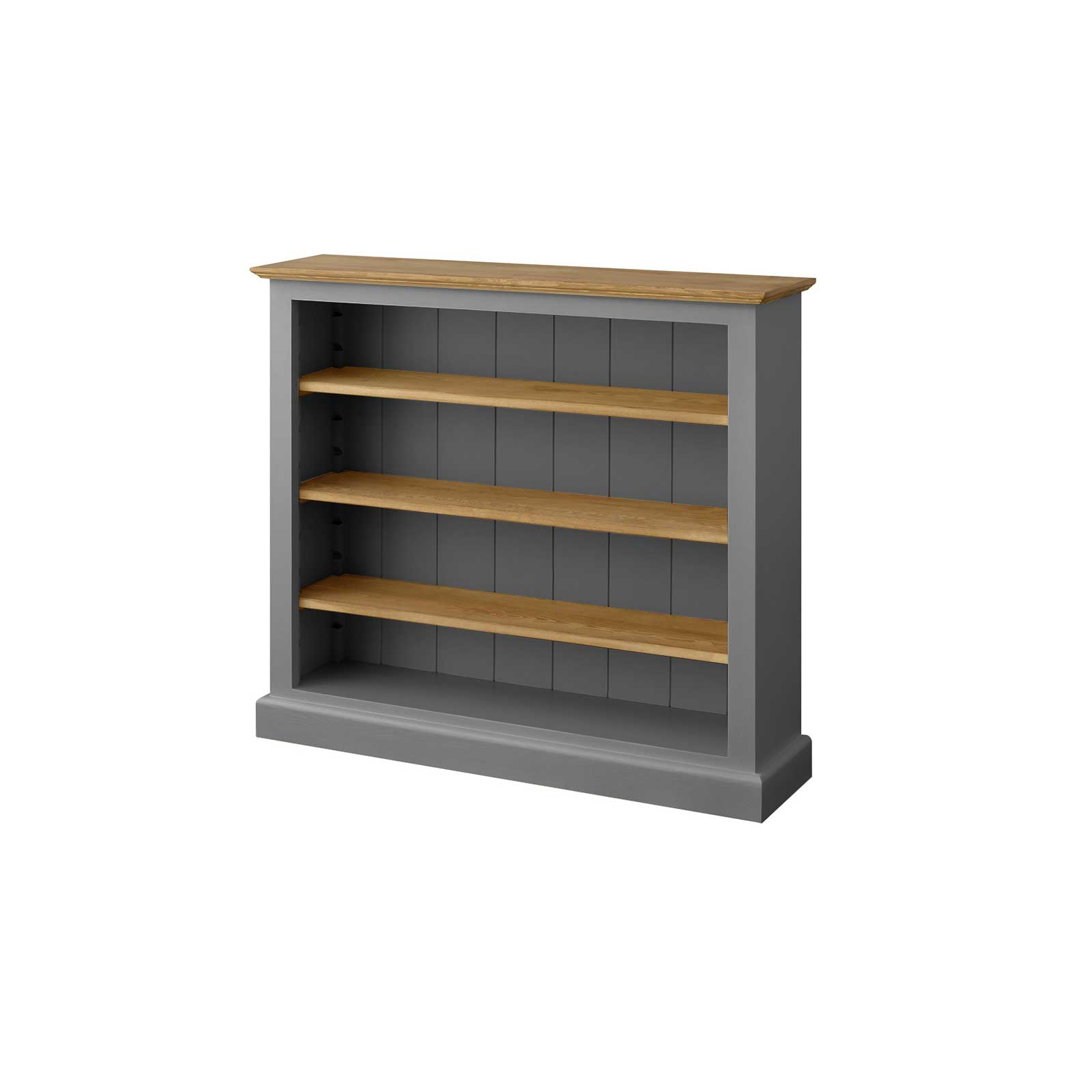 Soho Dark Grey Painted Low Bookcase (Large)_2