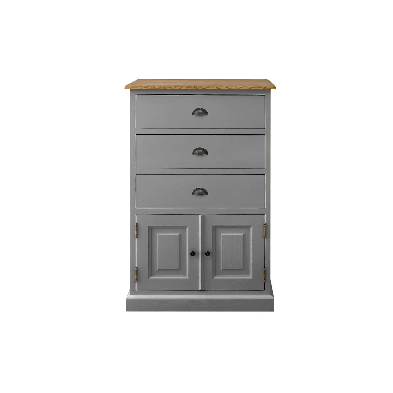 Soho Dark Grey Painted 3 Drawer Cabinet_1