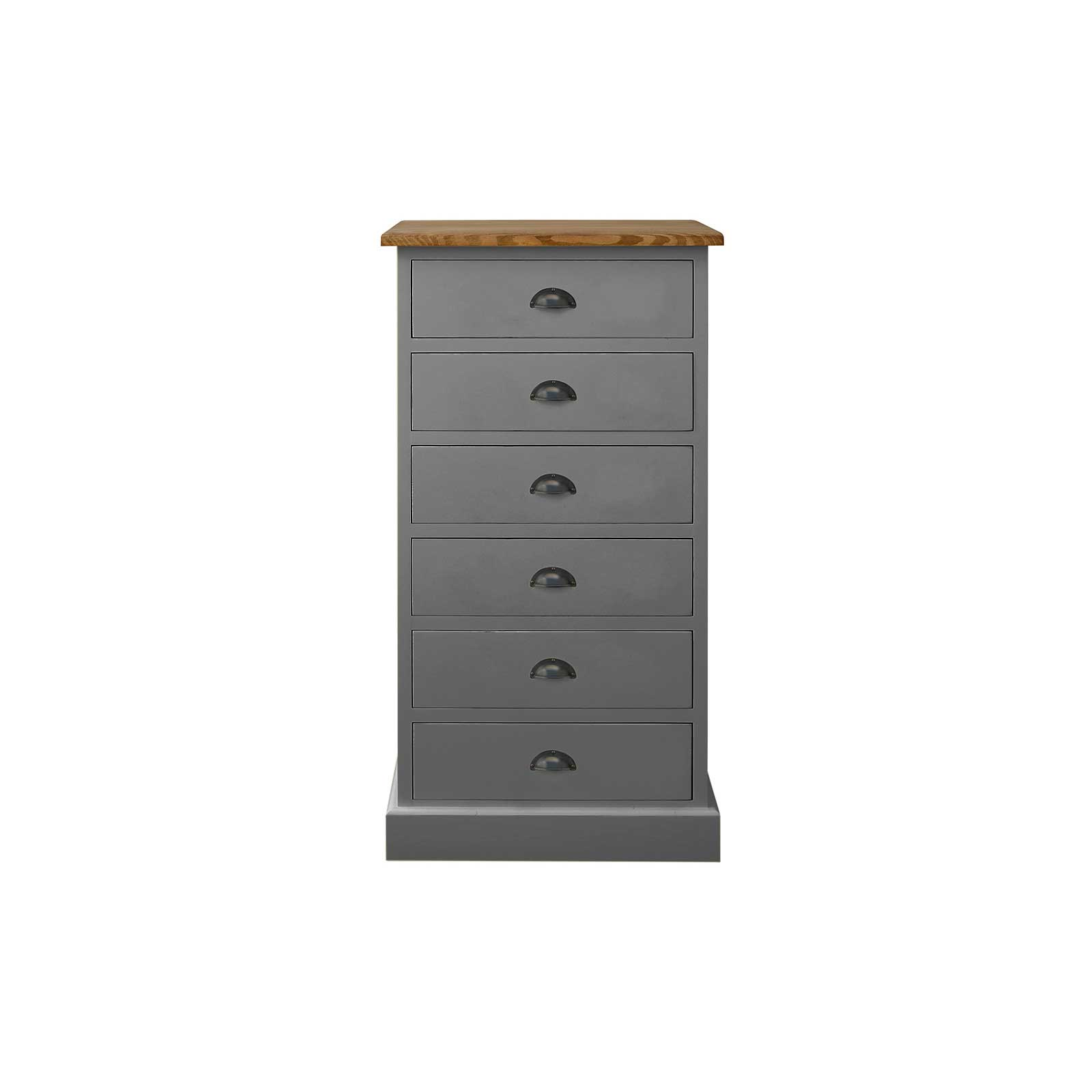 Soho Dark Grey Painted 6 Drawer Chest_2