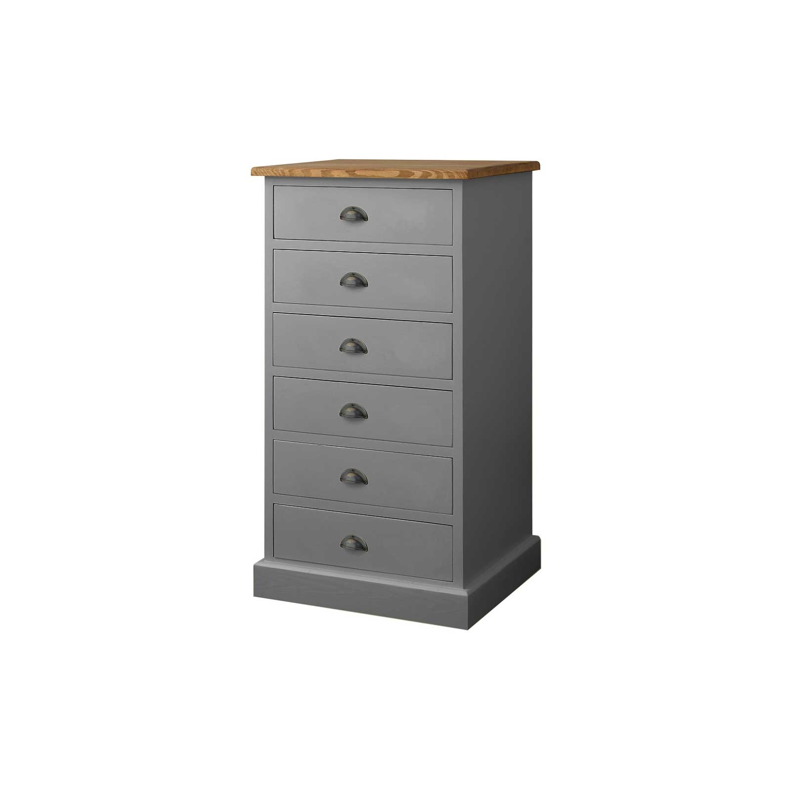 Soho Dark Grey Painted 6 Drawer Chest_3