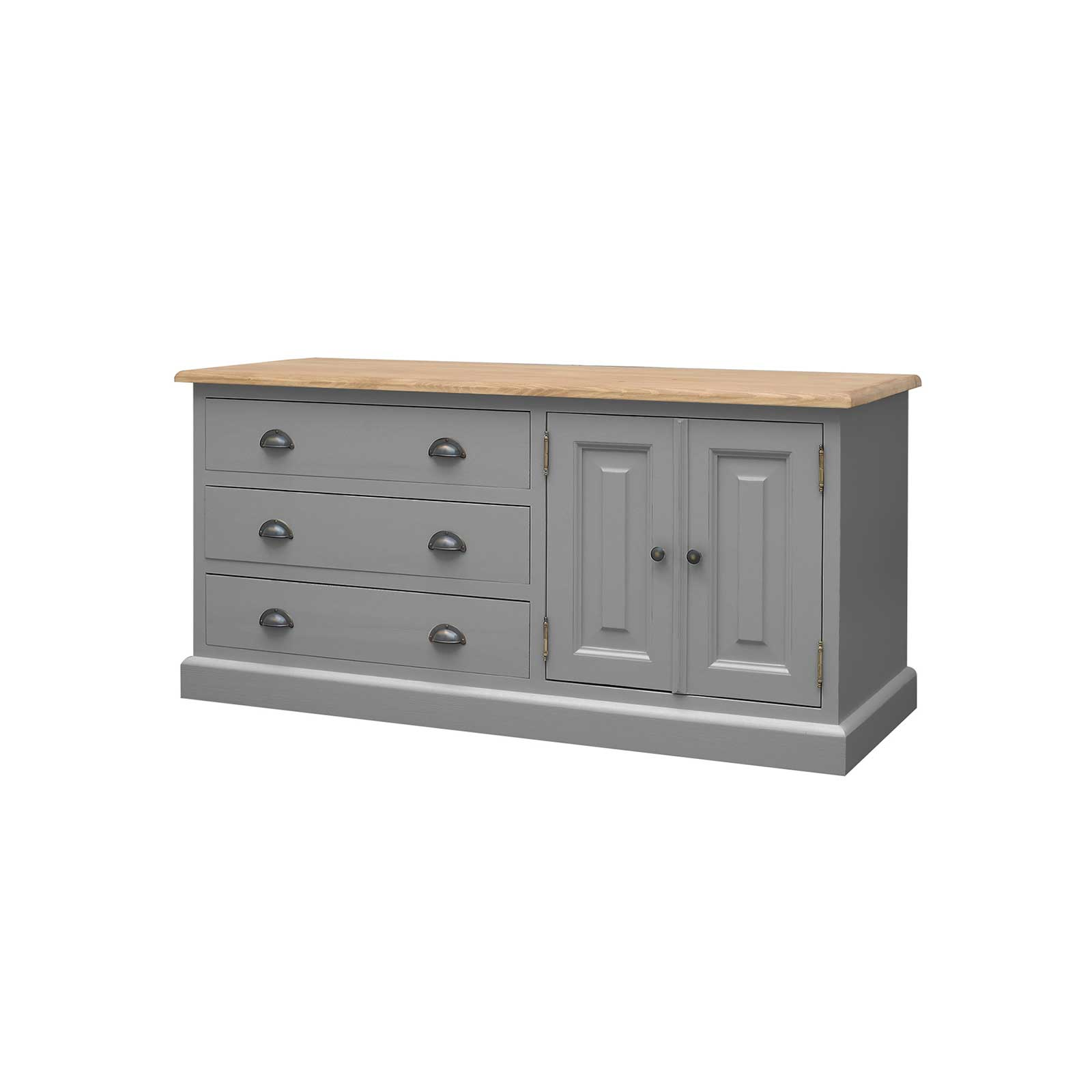 Soho Dark Grey Painted Low Boy Cabinet_1