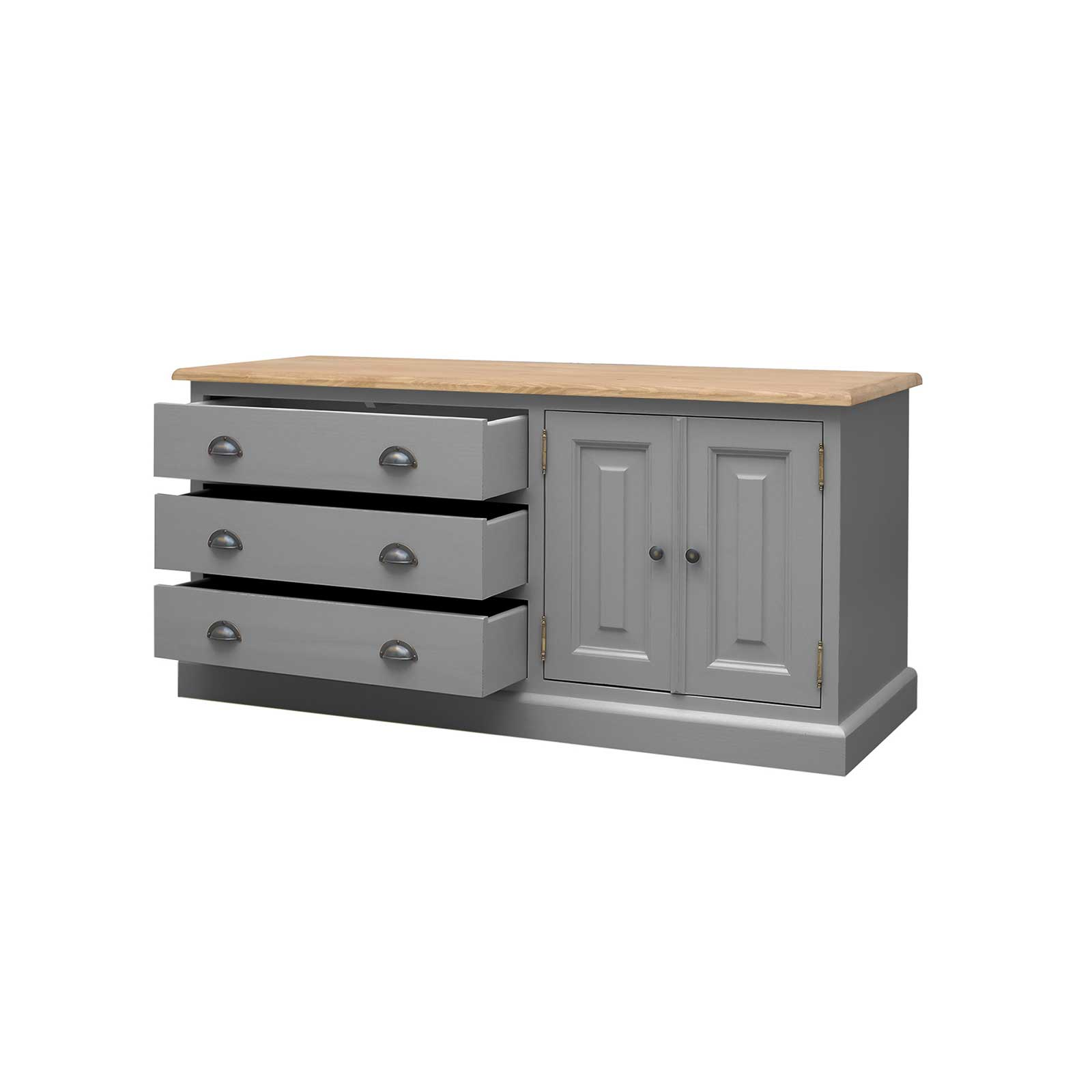 Soho Dark Grey Painted Low Boy Cabinet_2