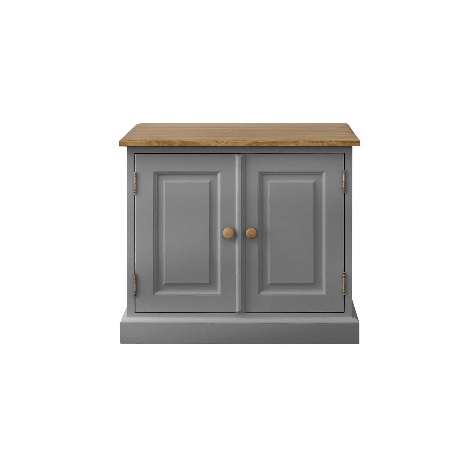 Soho Dark Grey Painted Small 2 Door Cabinet_1