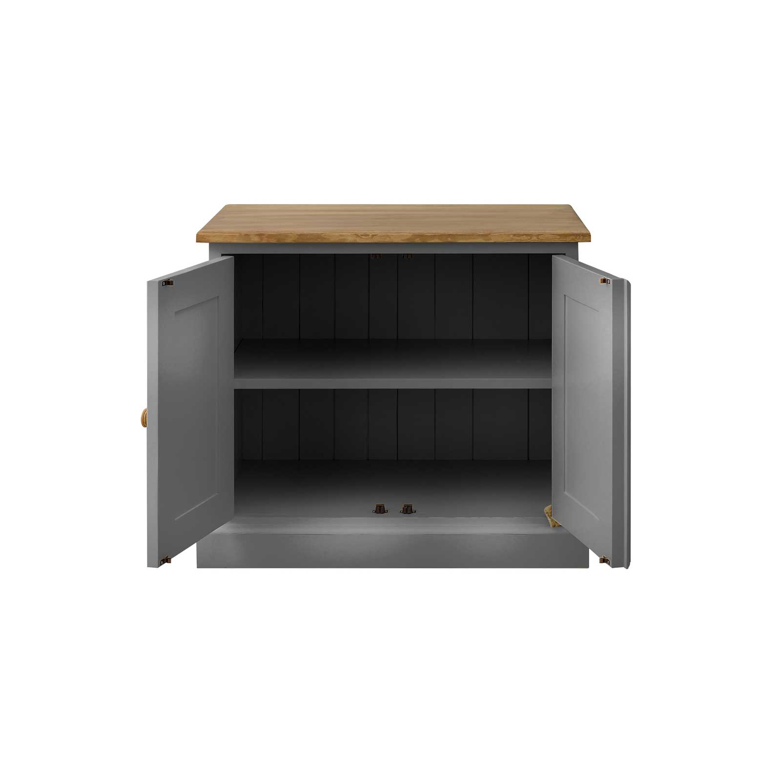 Soho Dark Grey Painted Small 2 Door Cabinet_2