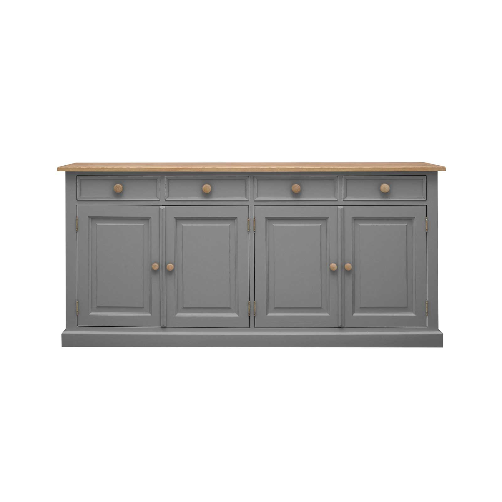 Soho Dark Gray Painted Frith Large 4 Door 4 Drawer Sideboard_1