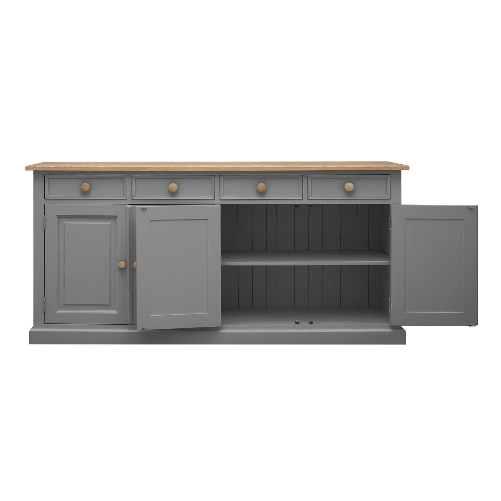 Soho Dark Gray Painted Frith Large 4 Door 4 Drawer Sideboard_2