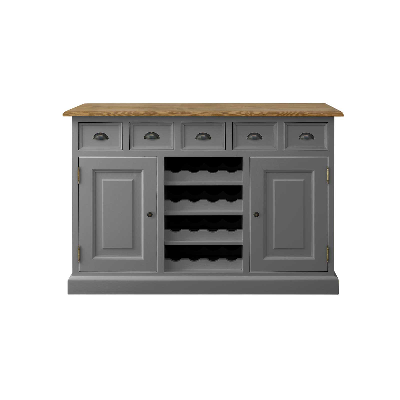 Soho Dark Grey Painted Bridle Sideboard Metal Handle_1