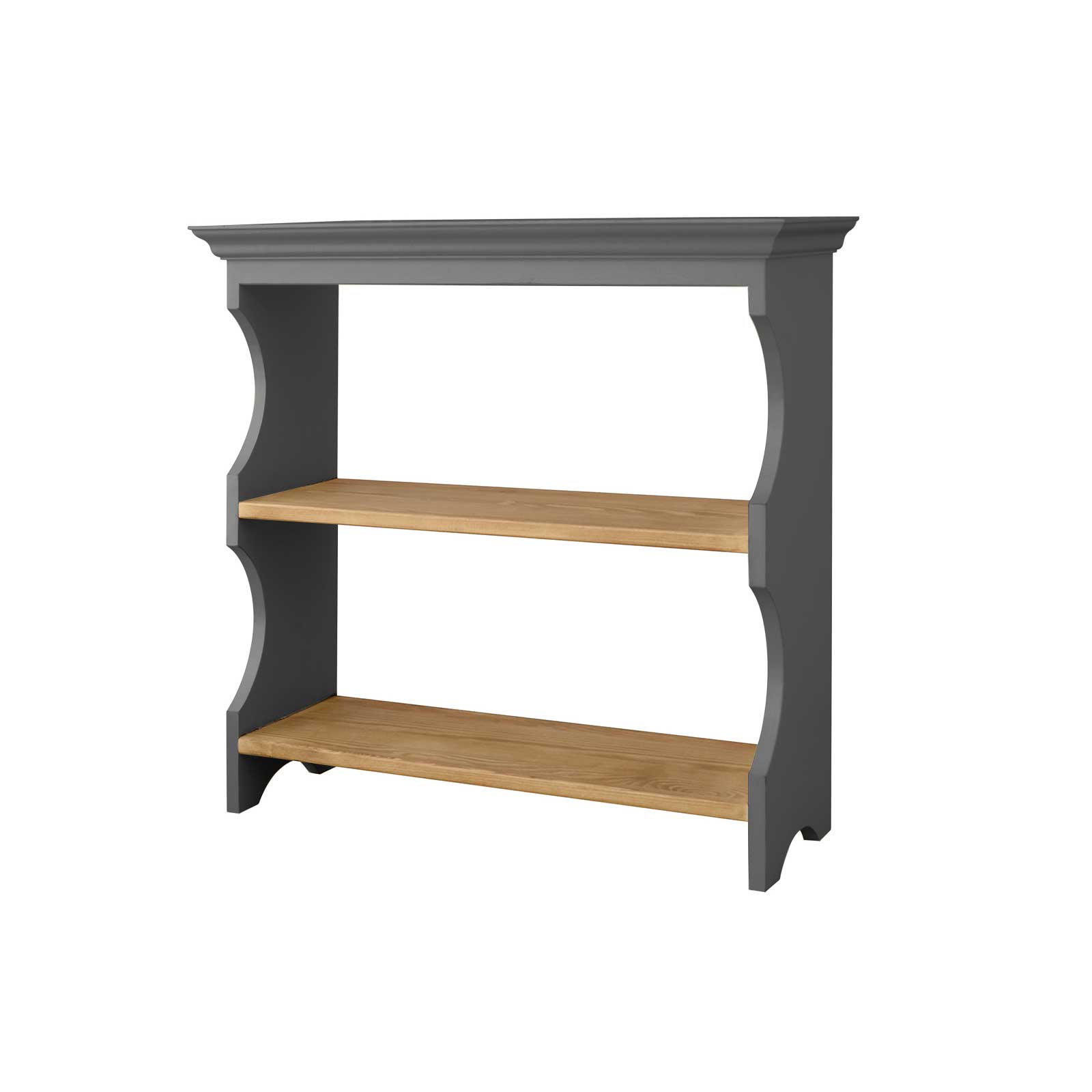 Soho Dark Grey Painted Wall Hanging Shelf_2