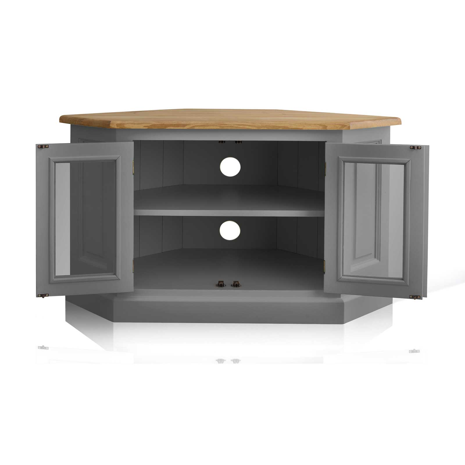 Soho Dark Gray Painted Glazed Corner TV Cabinet_2