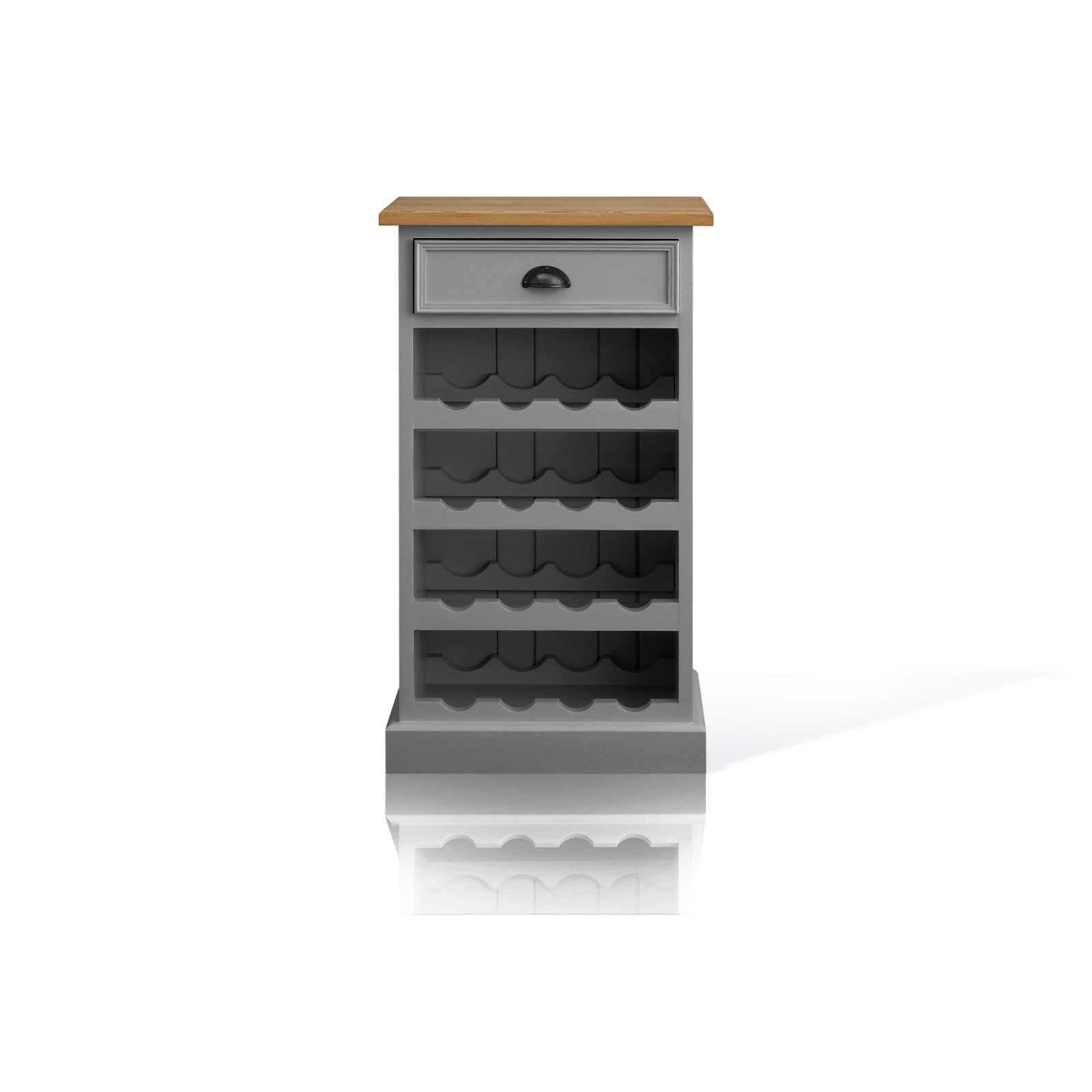 Soho Dark Grey Painted Small Wine Rack_1