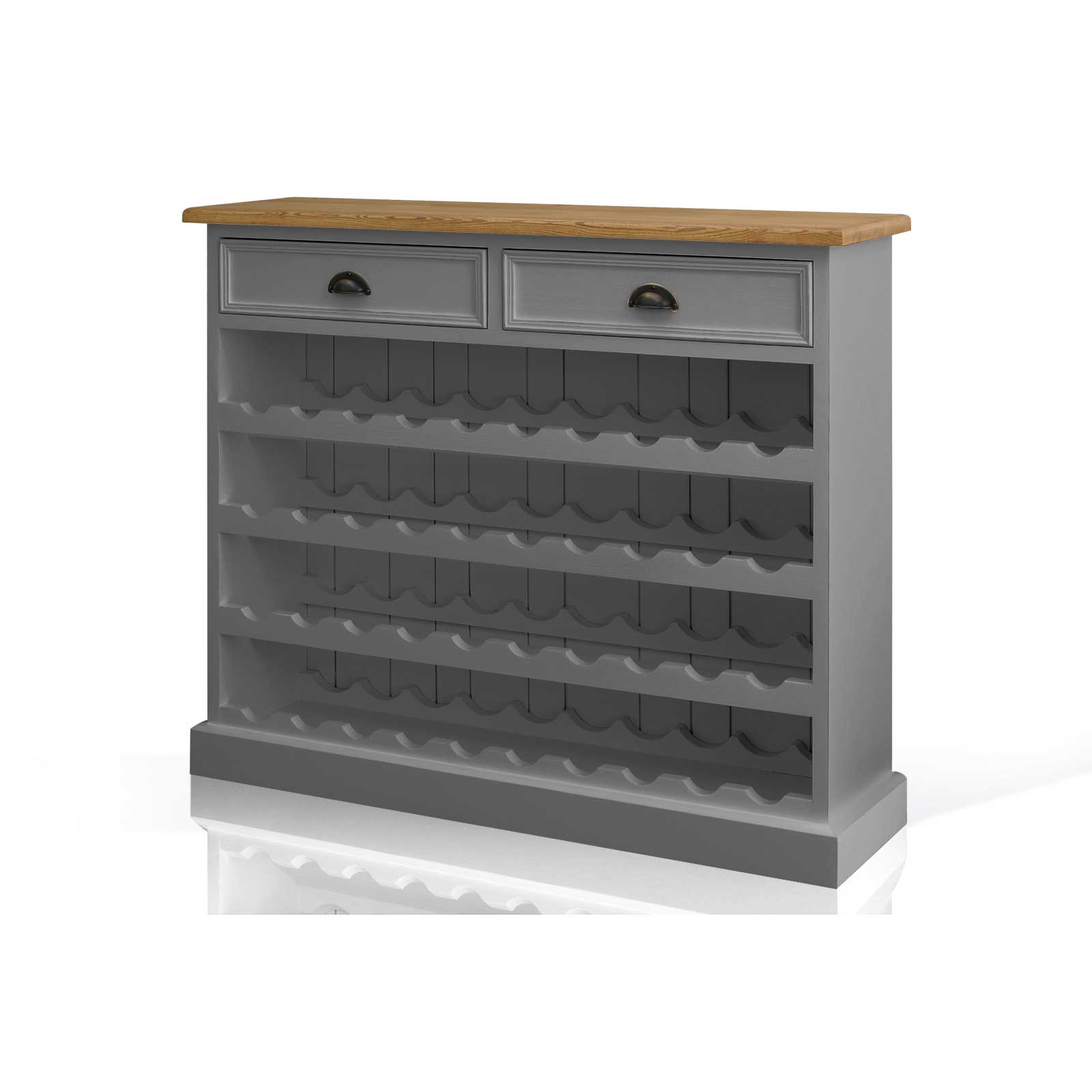 Soho Dark Grey Painted Large Wine Rack_2