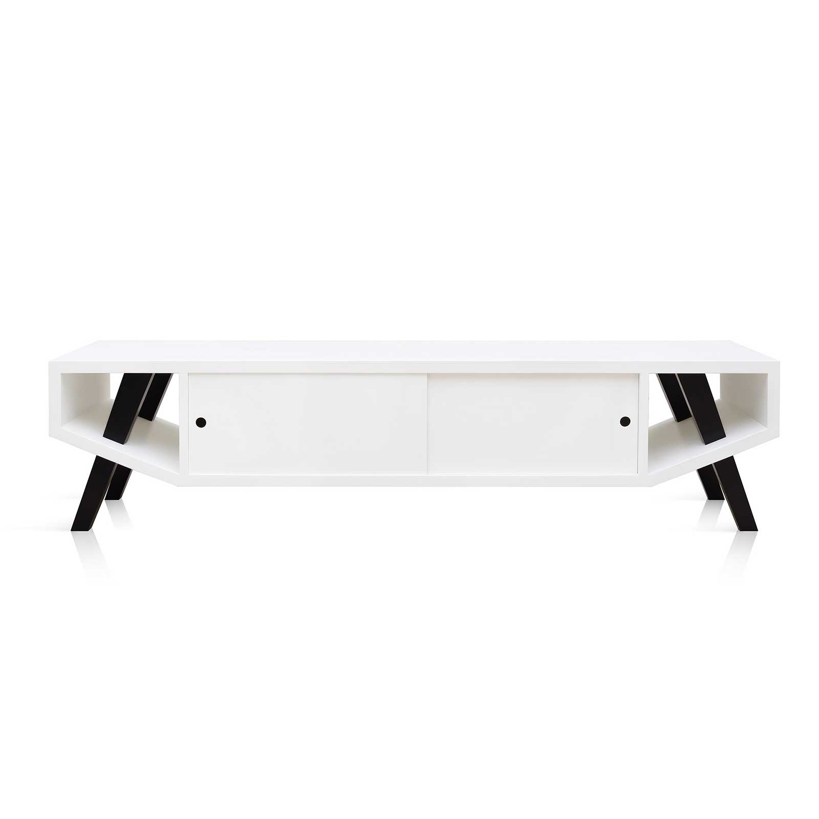 NU-O Eden TV UNIT 01 in White and Black