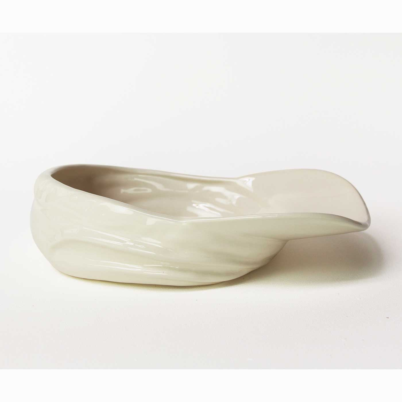 Stolen Form Buskers Hat Bowl in White Ceramic Earthenware