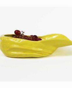 Stolen Form Buskers Hat Bowl in Yellow Ceramic Earthen