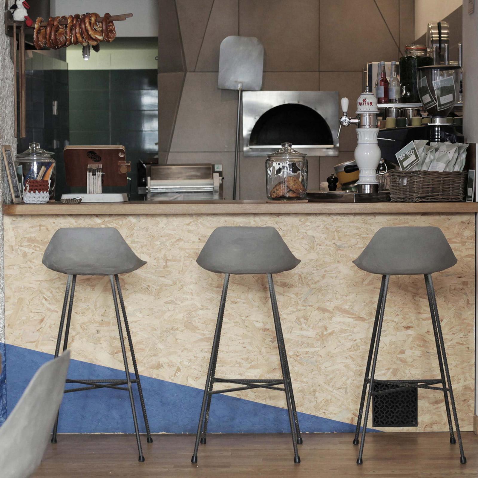 Lyon Beton Concrete Hauteville Counter Stool   Beyond Home