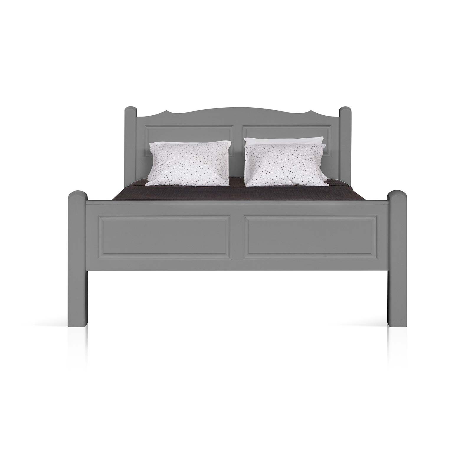Beyond Home The Soho Painted Furniture Collection Double - Kingsize Bed Frame in Grey