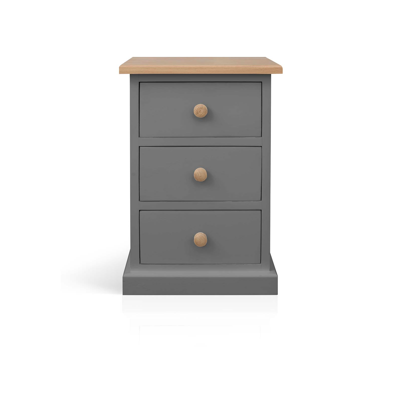 Beyond Home The Soho Painted Furniture Collection 3 Drawer Bedside Cabinet in Grey