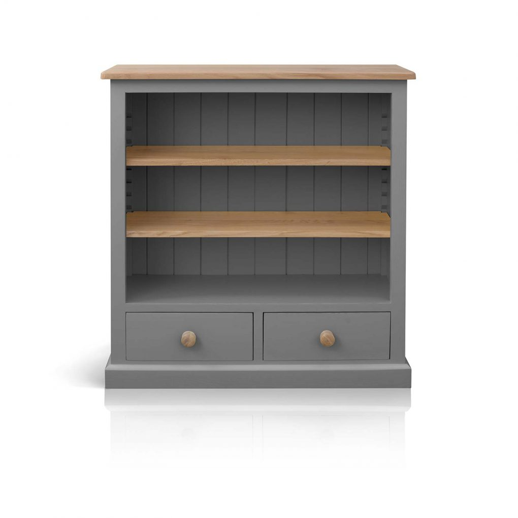 Soho painted low bookcase with drawers beyond home for Furniture collection