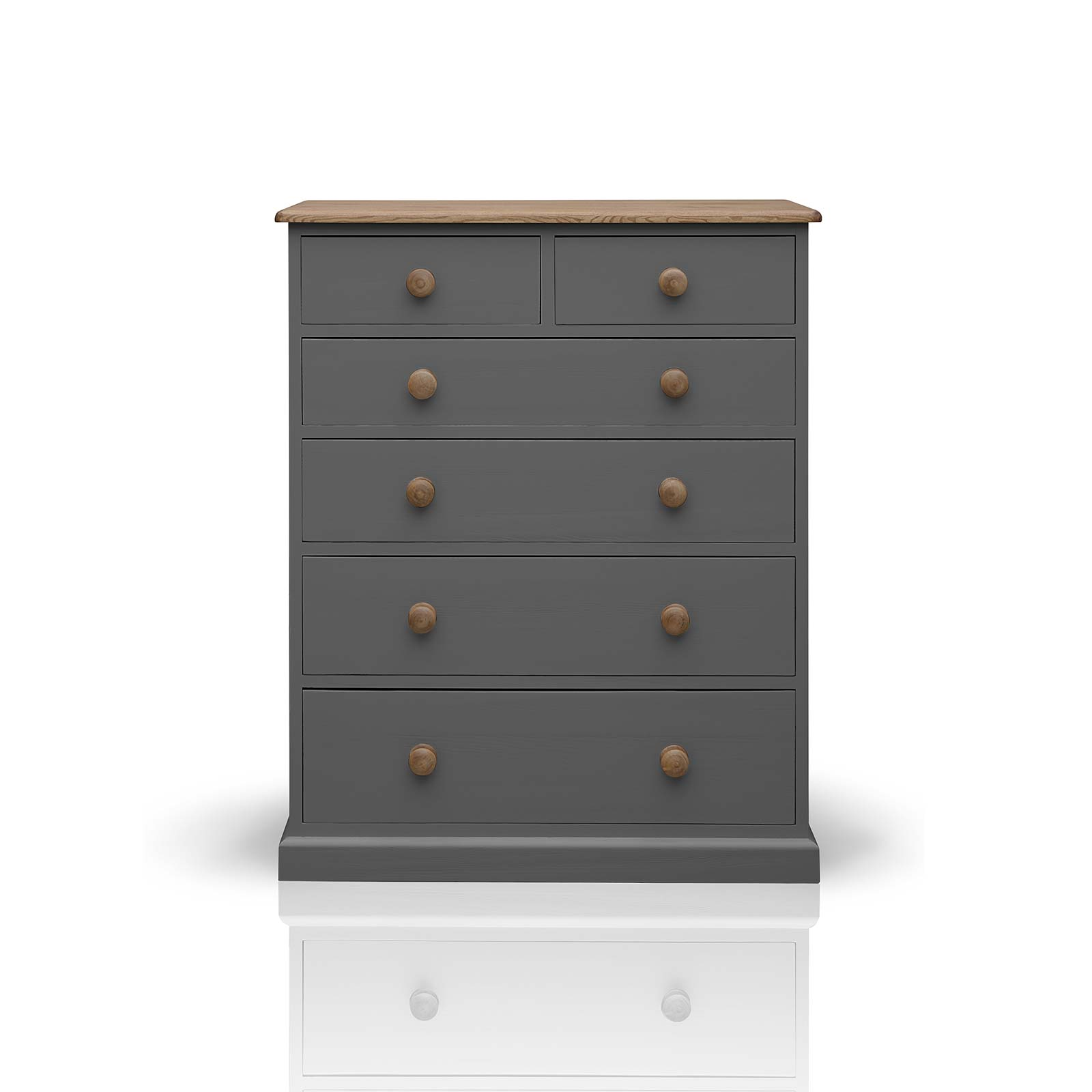 Beyond Home The Soho Painted Furniture Collection 2 over 4 Chest of Drawers in Grey