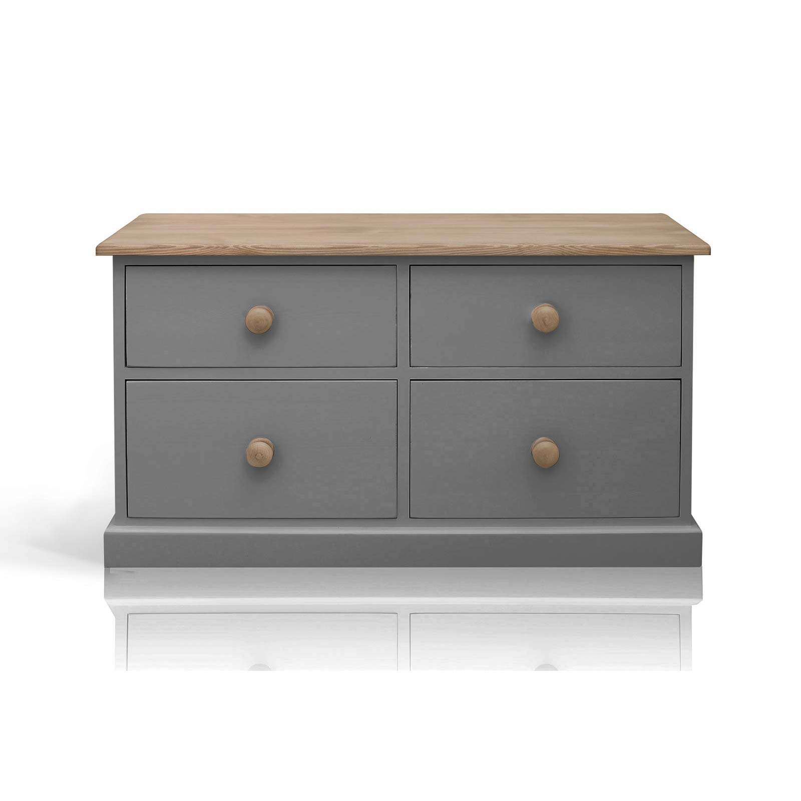 Beyond Home The Soho Painted Furniture Collection Low Chest of Drawers in Grey