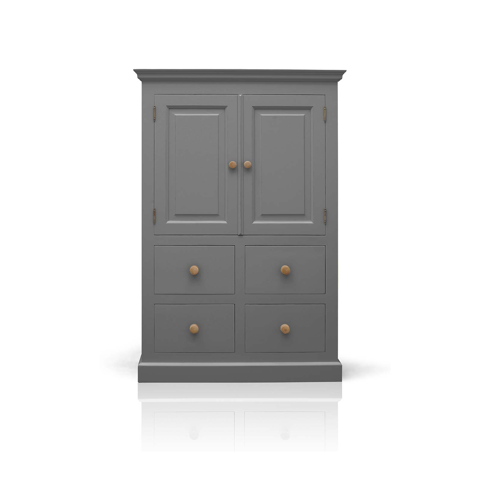 Beyond Home The Soho Painted Furniture Collection Small Linen Cupboard in Grey