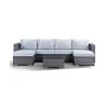 Ontario Garden Lounge Sofa with Double Chaise and Coffee Table